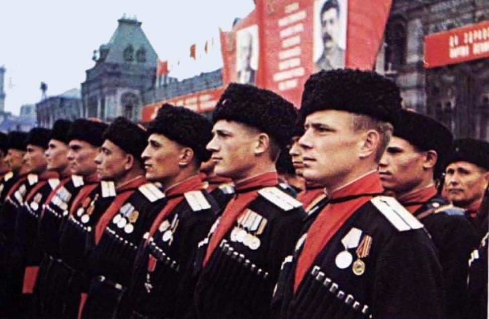 Казаки в Параде Победы на Красной площади (май 1945 года)