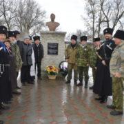 Казаки села Степного благоустроили сквер и установили бюст генералу Ермолову