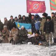 Общественники и казаки Бурятии провели «Байкальский ледовый переход-2018»