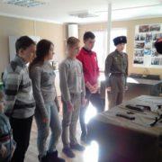 Начальная военная подготовка в виде открытого урока для школьников силами  «Громовцев»