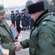 Казакам-дружинникам Зеленокумска вручены удостоверения