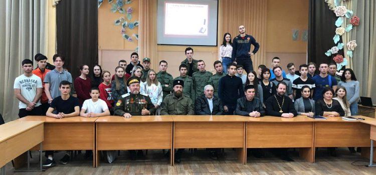 Казаки и представители национально-культурных организаций поговорили со студентами Михайловска о гармонизации этноконфессиональных отношений