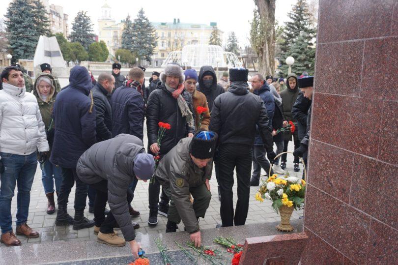 Ставропольские казаки отметили 290-летие со дня рождения Александра Суворова торжественным митингом