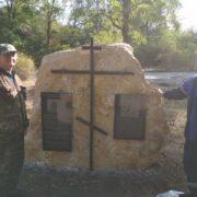 В память о разрушенном храме ипатовские казаки установили мемориальный камень