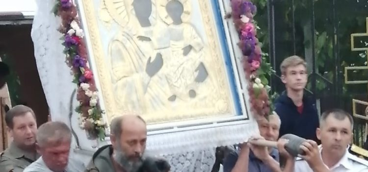 Казаки Северной Осетии-Алании встретили чудотворный образ Моздокской иконы Божией Матери