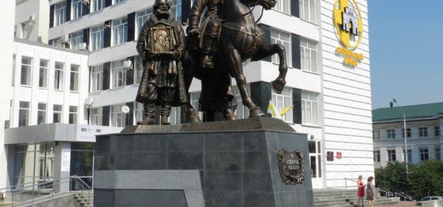 Екатерина II и князь Потемкин расскажут казачатам Ставрополя историю Града креста