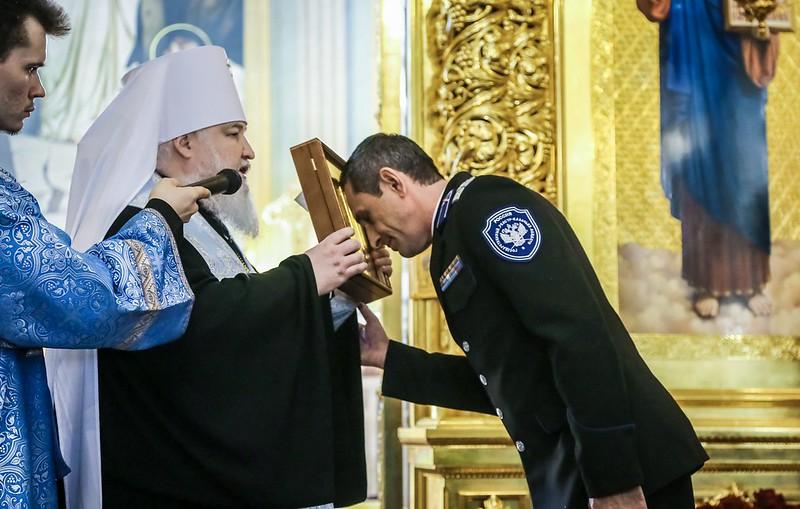 Атаман Терского войска Виталий Кузнецов принял участие престольном празднике Казанского кафедрального собора