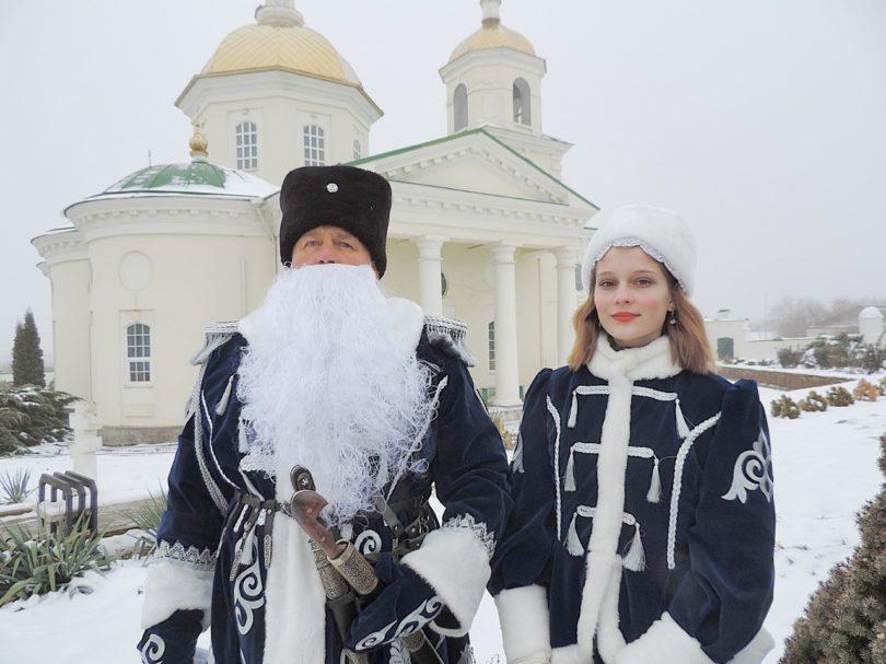 Терский казачий Дед Мороз поздравляет ставропольцев с Рождеством Христовым и Новолетием