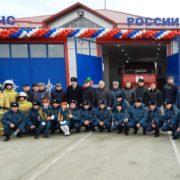 Казаки Кизляра приняли участие в открытии пожарной части