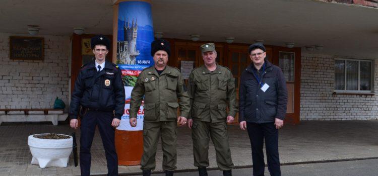 Более полутора тысяч Терских казаков вели охрану общественного порядка на выборах