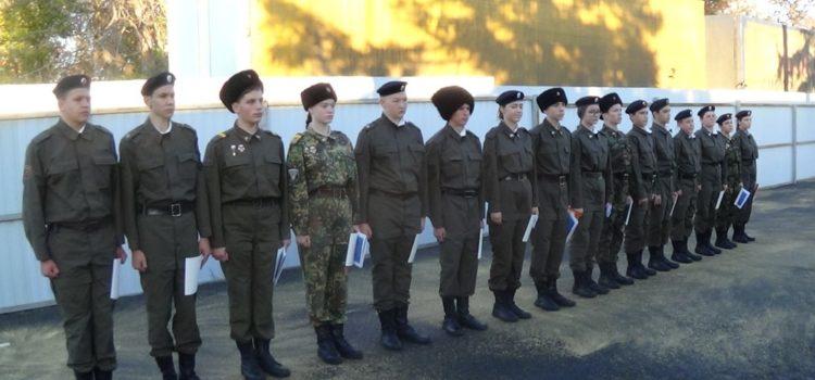 В казачьем клубе «Гром» Солнечнодольска прошли сборы младших командиров