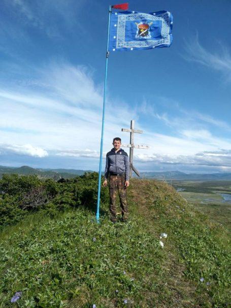 Флаг Терского казачьего войска собирает туристов на Камчатке
