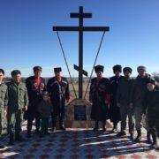 НОВОТРОИЦКИЕ КАЗАКИ ВОЗВЕЛИ ПОКЛОННЫЙ КРЕСТ НА МЕСТЕ РАЗРУШЕННОГО ХРАМА