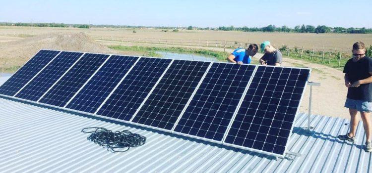 На «Казачьей поляне» в селе Солдато-Александровском установлены солнечные батареи