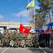 Учебные сборы казаков-кадетов проходят в посёлке Солнечнодольске