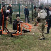 Казаки села Зелёная Роща Степновского муниципального округа установили уличные тренажёры
