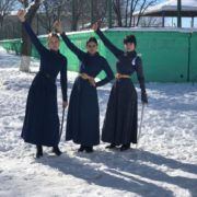 Казачки из станицы Воровсколесской Ставрополья взяли призовые места на чемпионате по фланкировке