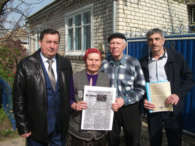 Ставропольчанке вручили документы о боевом пути отца-фронтовика
