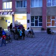 В честь Дня Победы в станице Курской казаки организовали кинопоказ под открытым небом