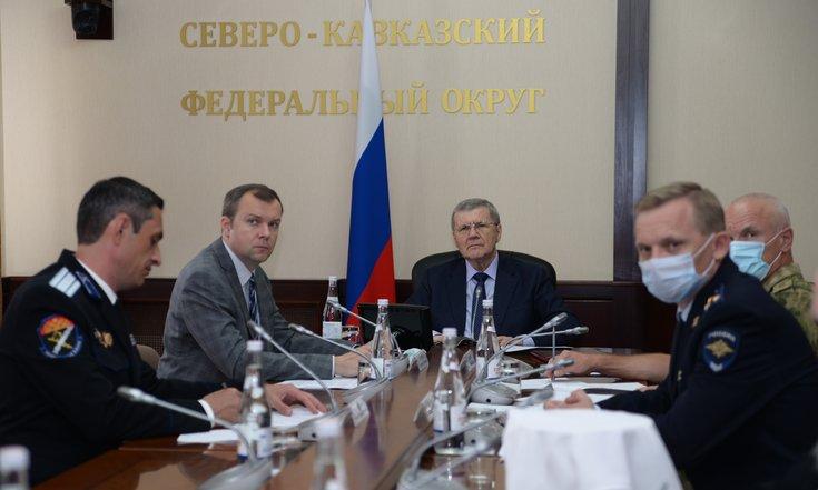 Юрий Чайка провел заседание Комиссии при полпреде Президента РФ в Северо-Кавказском федеральном округе по делам казачества